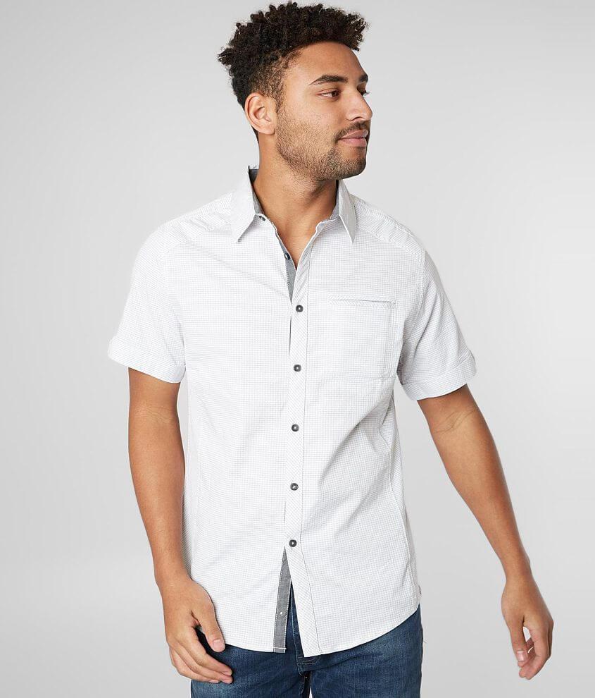 J.B. Holt Striped Standard Stretch Shirt front view