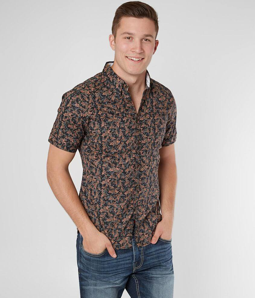 J.B. Holt Floral Tailored Stretch Shirt front view