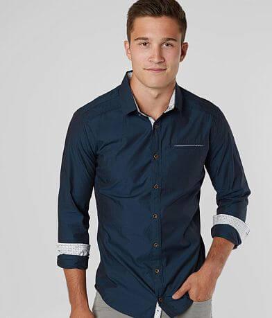 J.B. Holt Jacquard Tailored Stretch Shirt