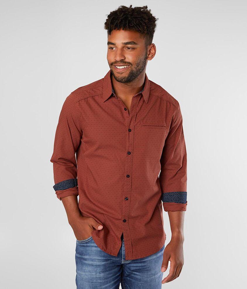J.B. Holt Textured Standard Shirt front view