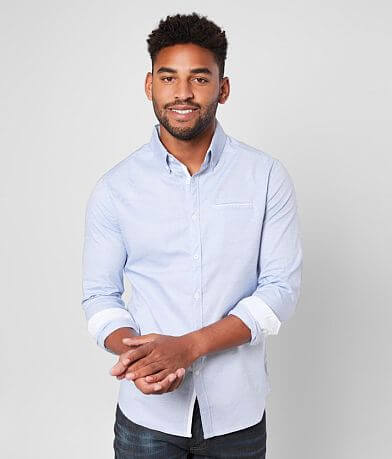J.B. Holt Jacquard Tailored Stretch Shirt