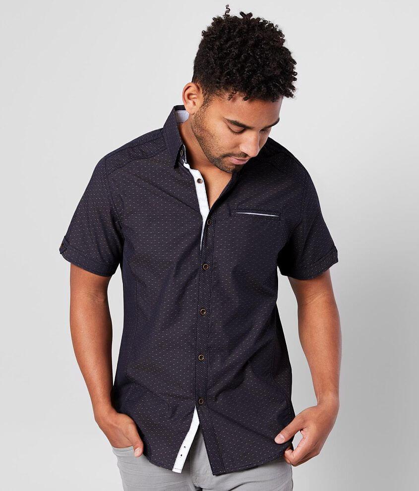 J.B. Holt Pinstripe Standard Shirt front view