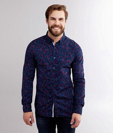 J.B. Holt Floral Tailored Stretch Shirt