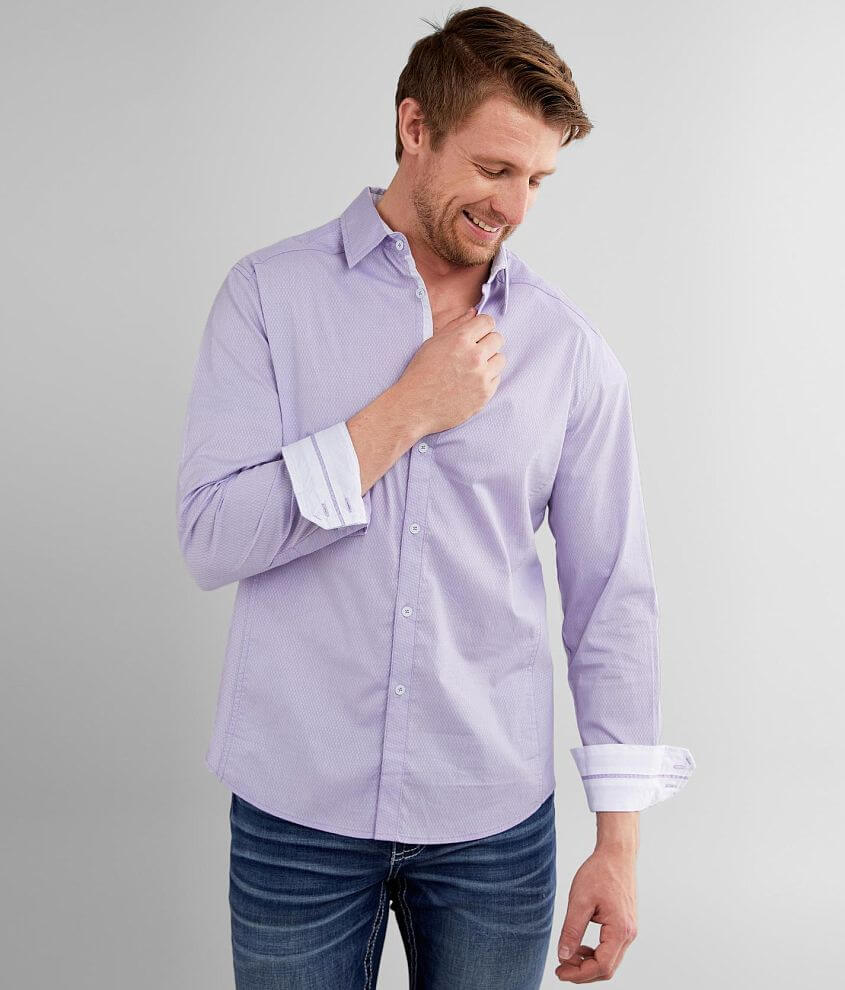 J.B. Holt Embroidered Athletic Stretch Shirt front view