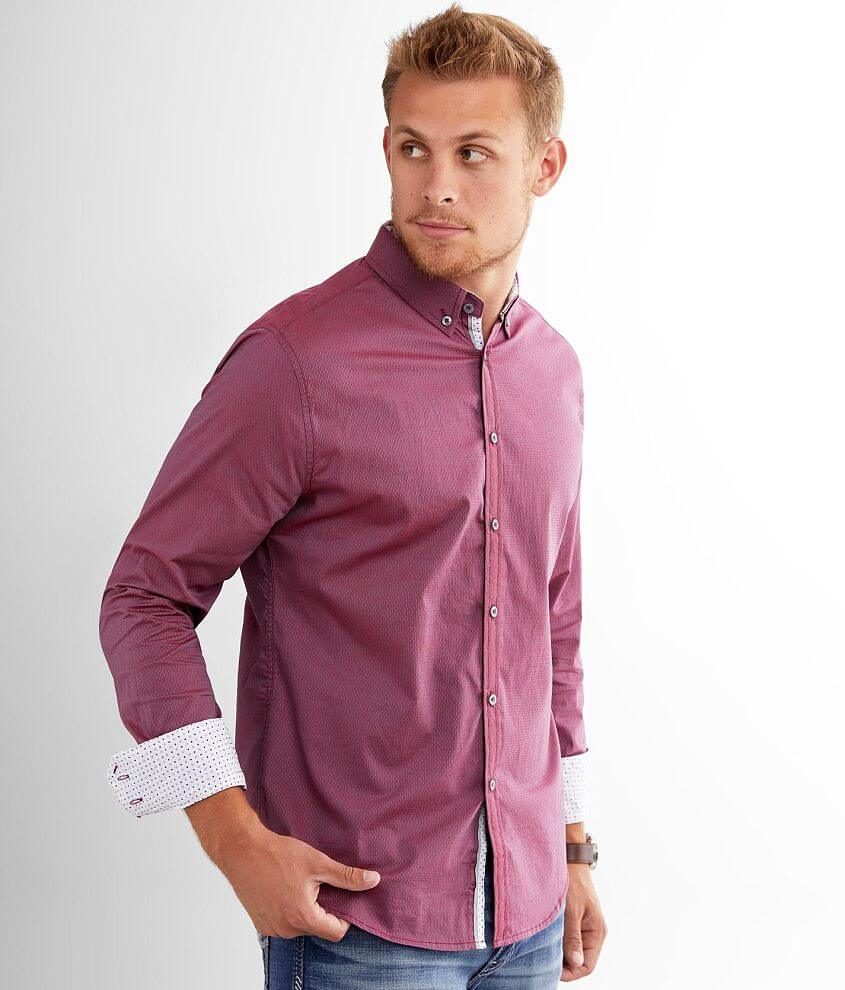 J.B. Holt Textured Athletic Stretch Shirt front view