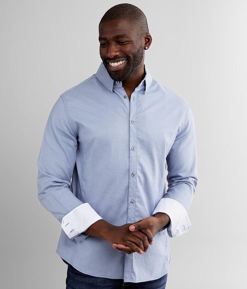 J.B. Holt Jacquard Athletic Stretch Shirt front view