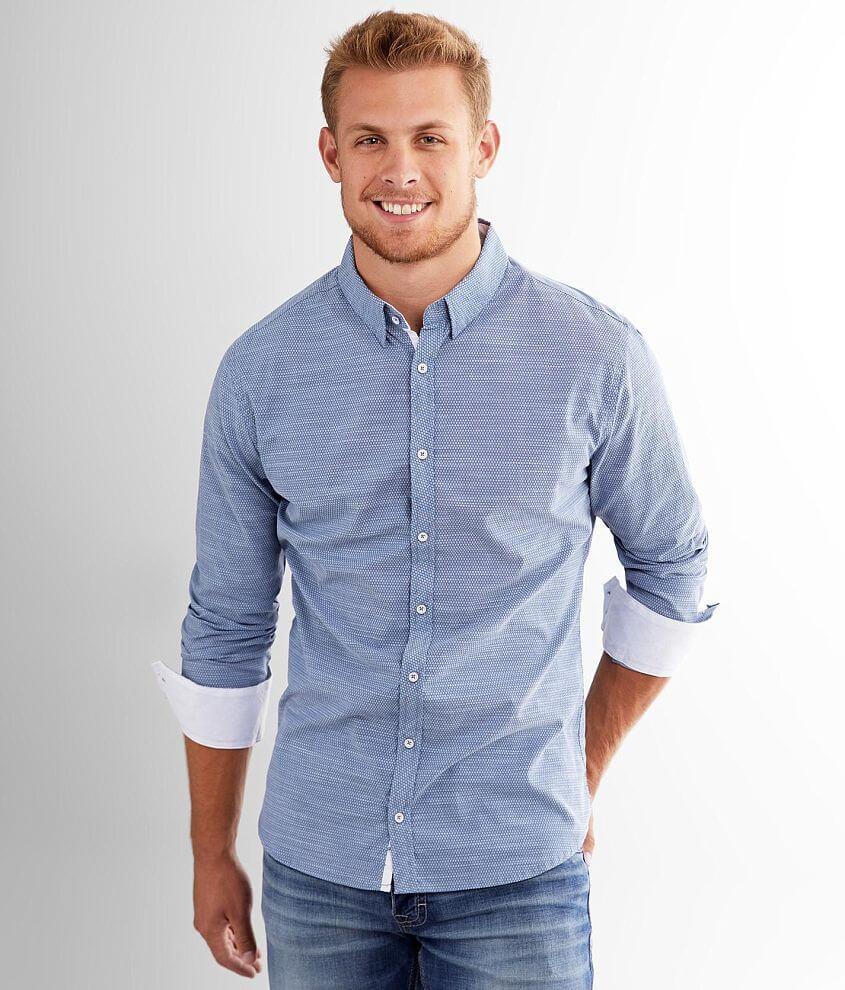 J.B. Holt Diamond Tailored Stretch Shirt front view