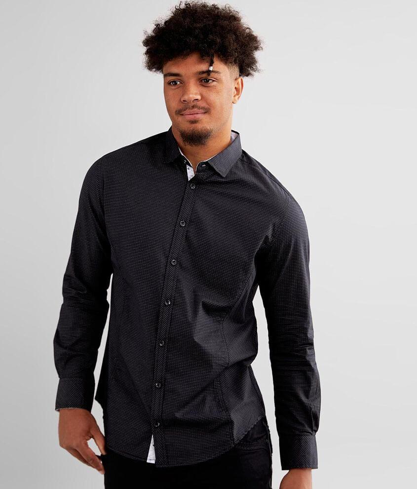 J.B. Holt Pinstripe Standard Stretch Shirt front view