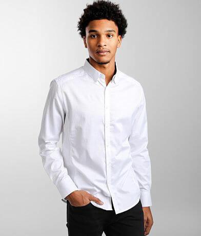 J.B. Holt Textured Athletic Stretch Shirt