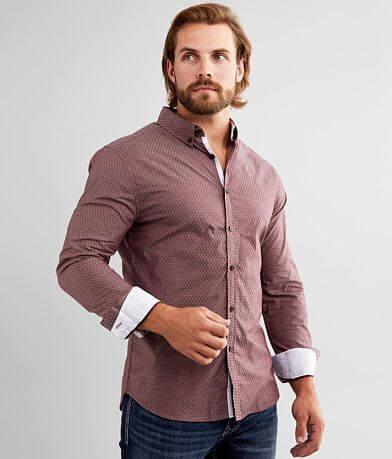 J.B. Holt Textured Tailored Stretch Shirt