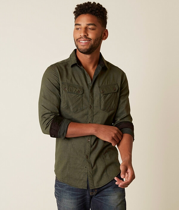Outpost Solid Shirt Outpost Makers Makers dqwP7g