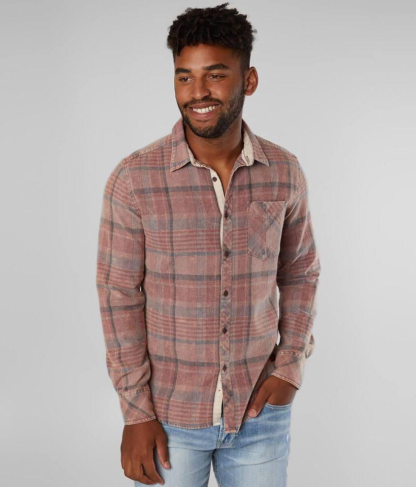 Outpost Makers Washed Flannel Shirt front view