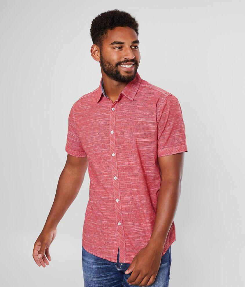 Outpost Makers Marled Stretch Shirt front view