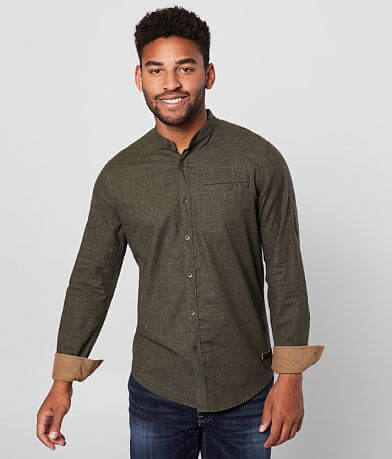 Outpost Makers Mandarin Collar Shirt