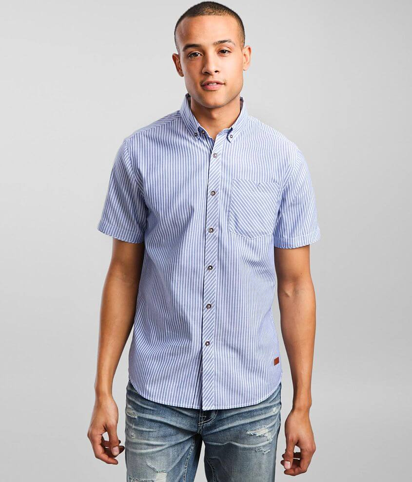 Outpost Makers Striped Jacquard Shirt front view