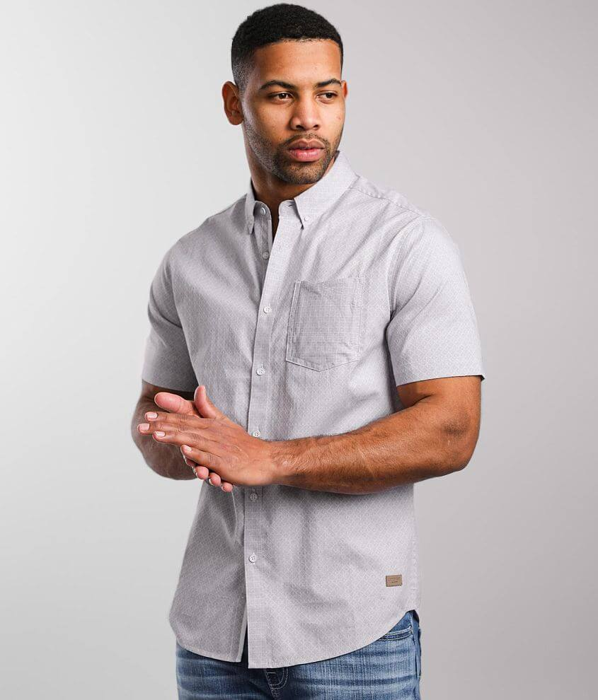Outpost Makers Diamond Jacquard Shirt front view