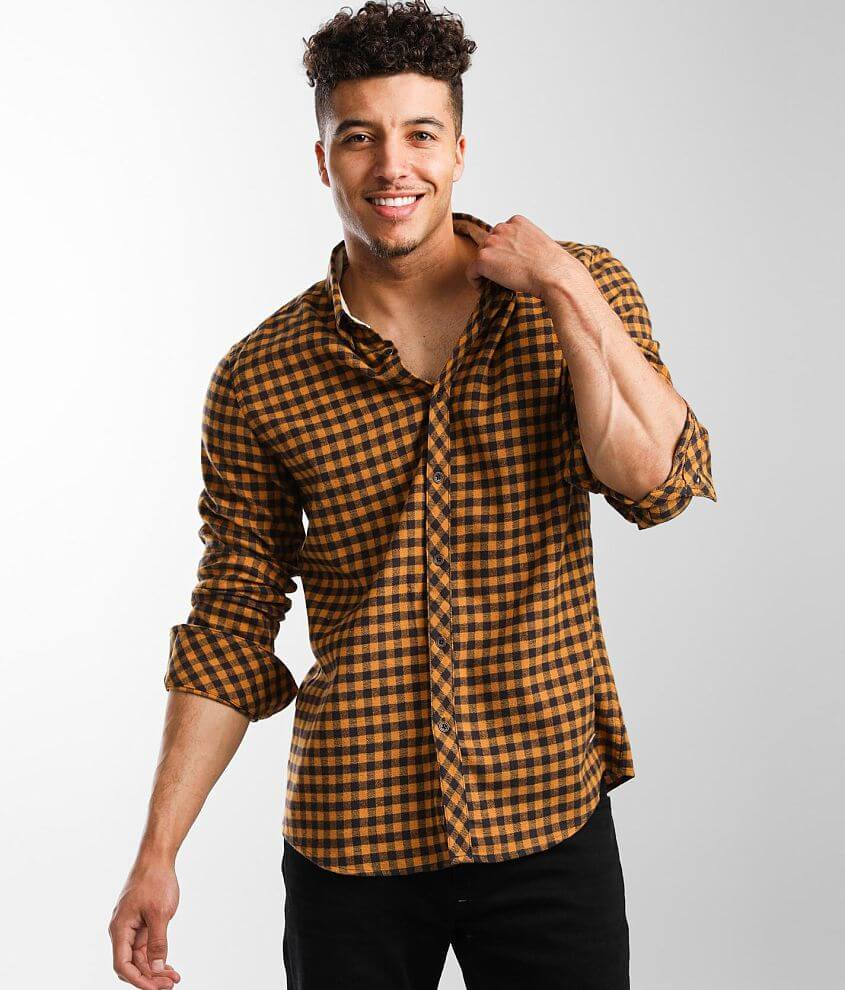 Outpost Makers Plaid Stretch Shirt front view