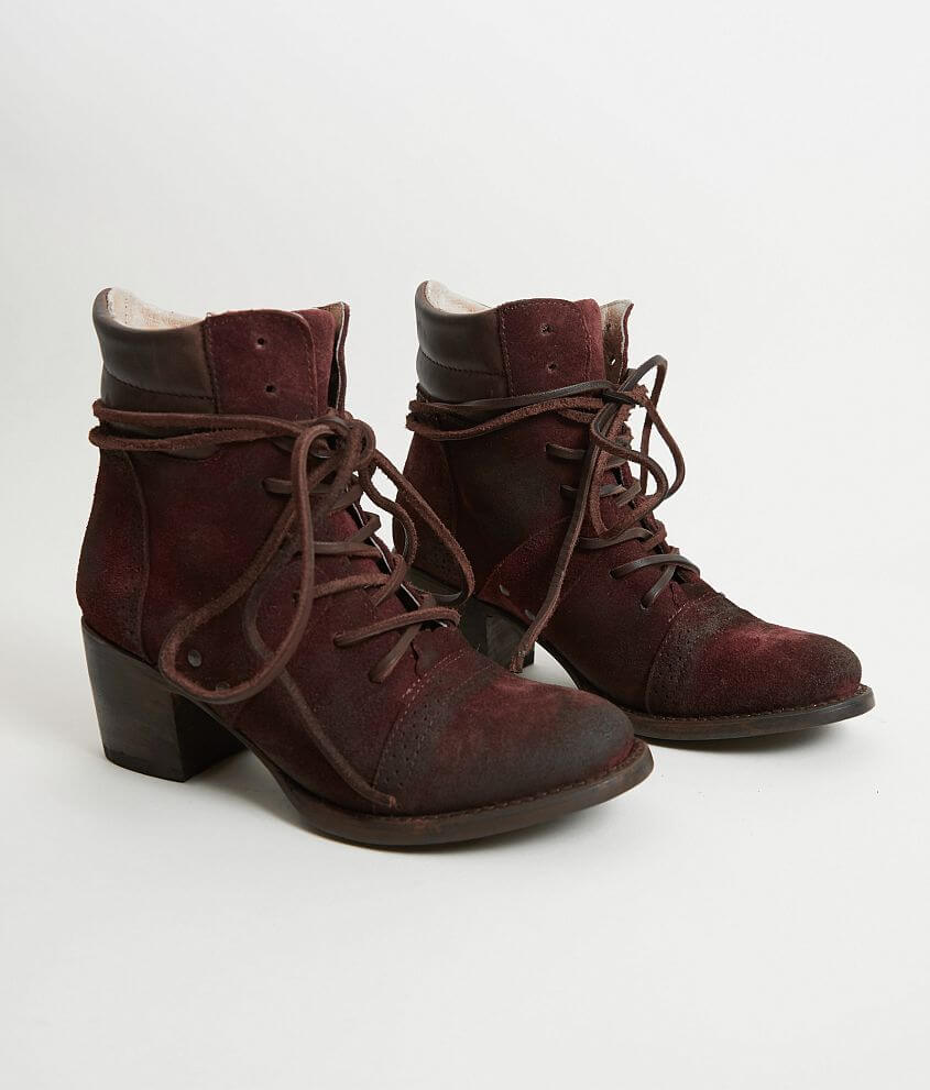 3ca6c6d7876 Freebird by Steven Cage Leather Boot - Women s Shoes in Wine Suede ...