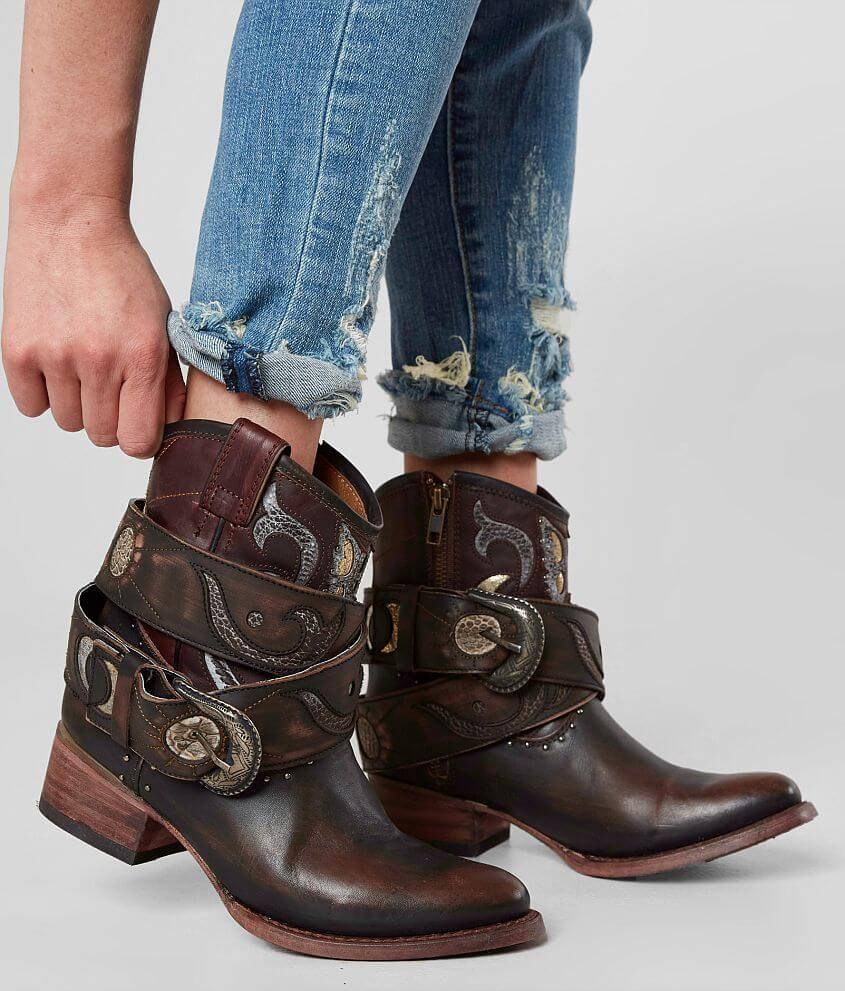495a8f29fc2cb3 Freebird by Steven Tash Leather Ankle Boot - Women s Shoes in Brown ...