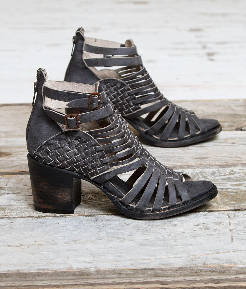 Freebird by Steven Todum Leather Heeled Sandal front view