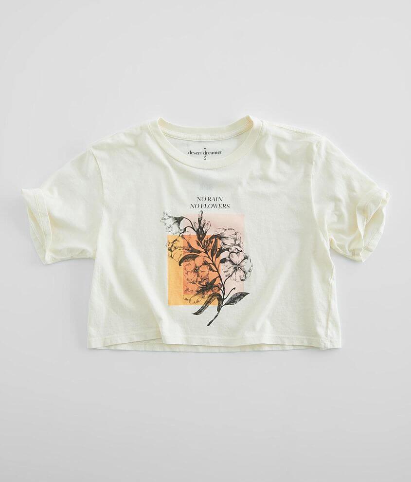 Desert Dreamer No Rain No Flowers Cropped T-Shirt front view