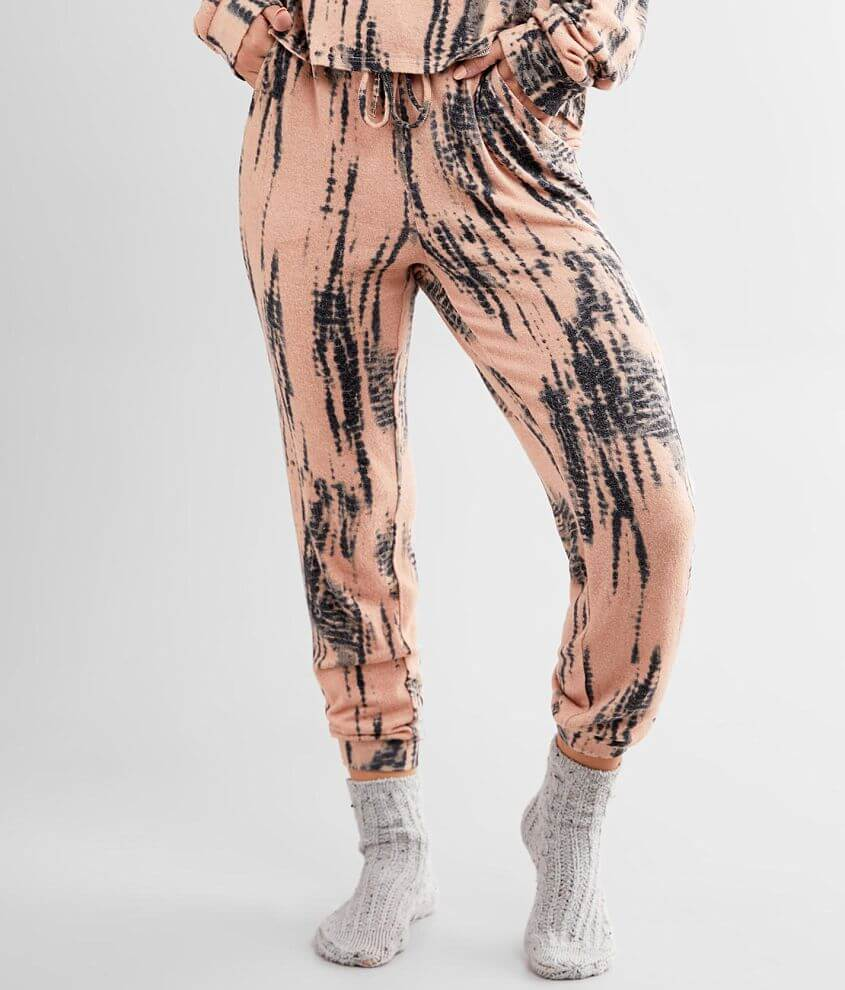 BKE Brushed Hacci Tie Dye Jogger Pant front view