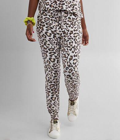 BKE Brushed Hacci Leopard Jogger