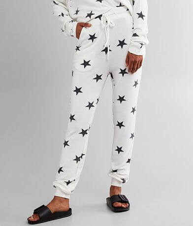 Fornia Star Print Brushed Knit Jogger