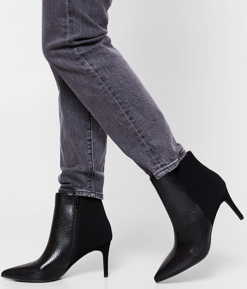 Soda Acais Faux Suede Ankle Boot front view