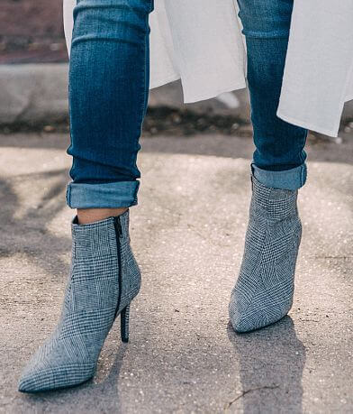 Cityclassified Plaid Ankle Boot