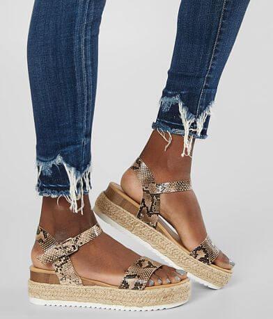 Soda Clips Strappy Wedge Sandal
