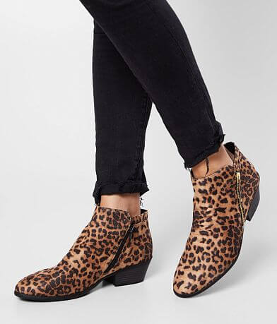 Soda Depot Animal Print Ankle Boot