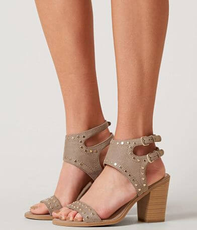 Soda Peep Toe Heeled Sandal