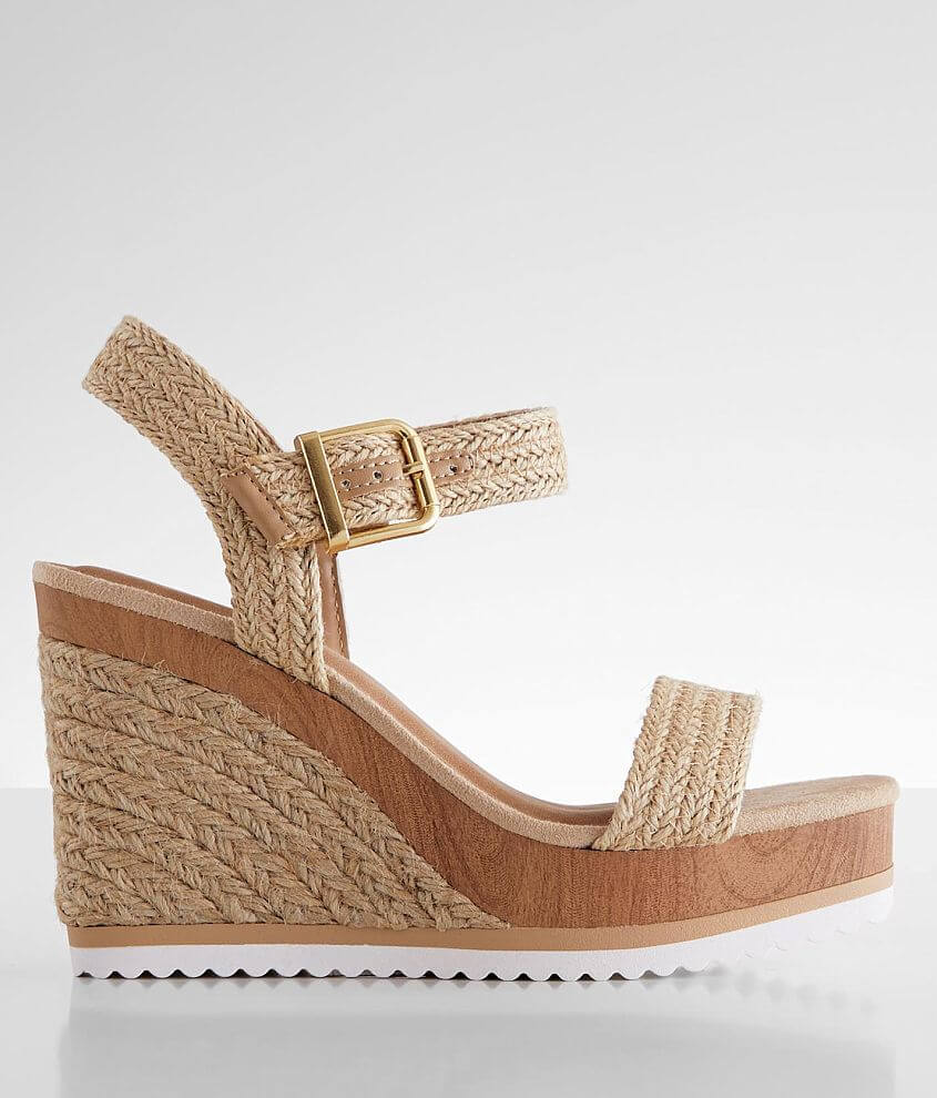 Soda Sutter Espadrille Wedge Sandal front view