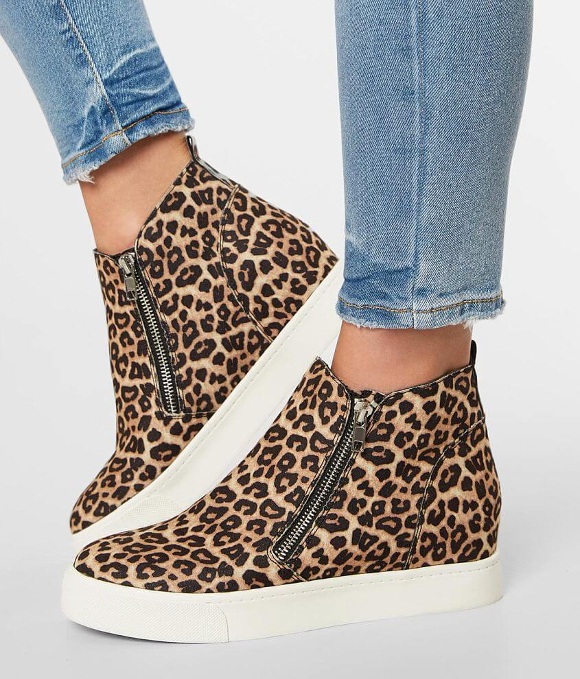 Soda Taylor Leopard Wedge Shoe front view