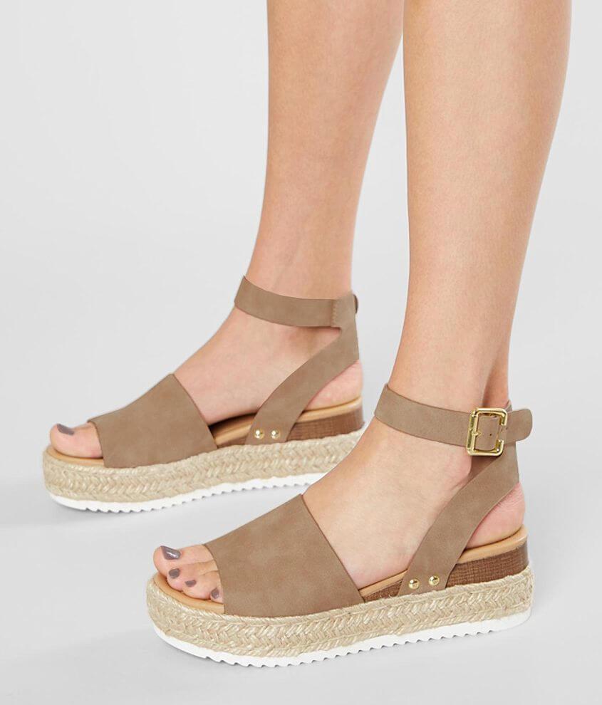 7ba2f620556 Soda Topics Flatform Sandal - Women's Shoes in Dark Natural | Buckle