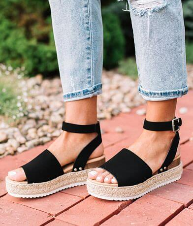 Soda Faux Suede Flatform Sandal