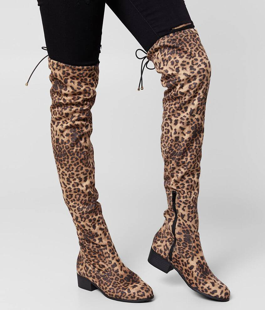 Soda Yahs Over The Knee Boot front view