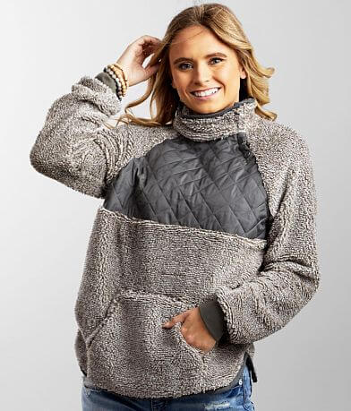 BKE Quilted Sherpa Pullover