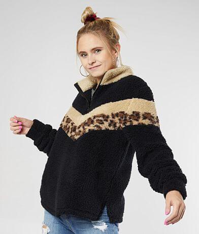 BKE Chevron Cheetah Pullover