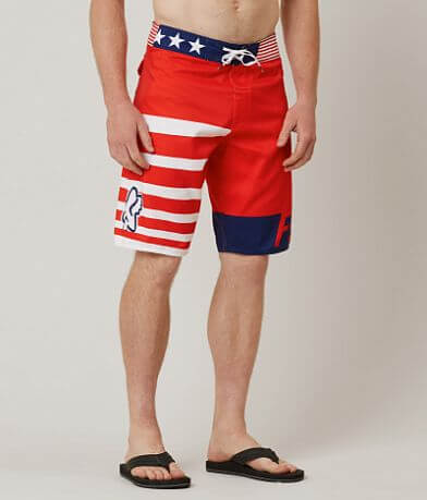 Fox Red White & True Stretch Boardshort
