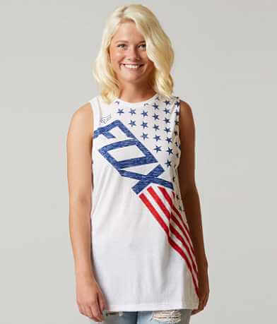 Fox Red, White & True Tank Top