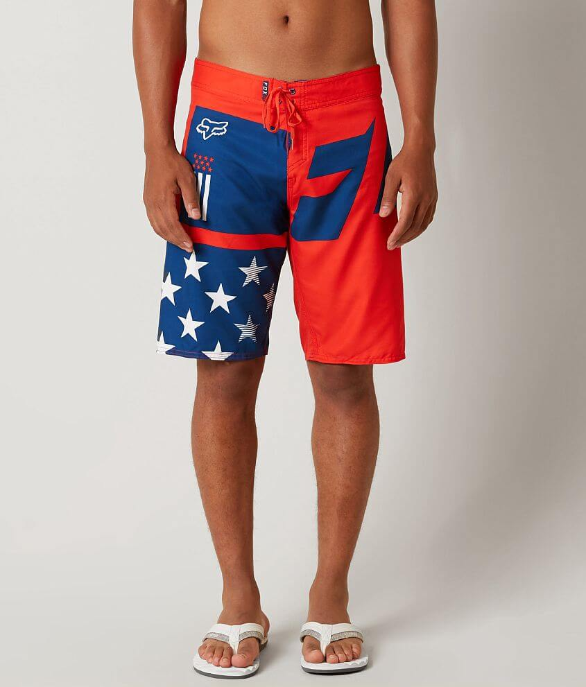 92fc61bd97 Fox Motion Red White & Blue Stretch Boardshort - Men's Boardshorts ...