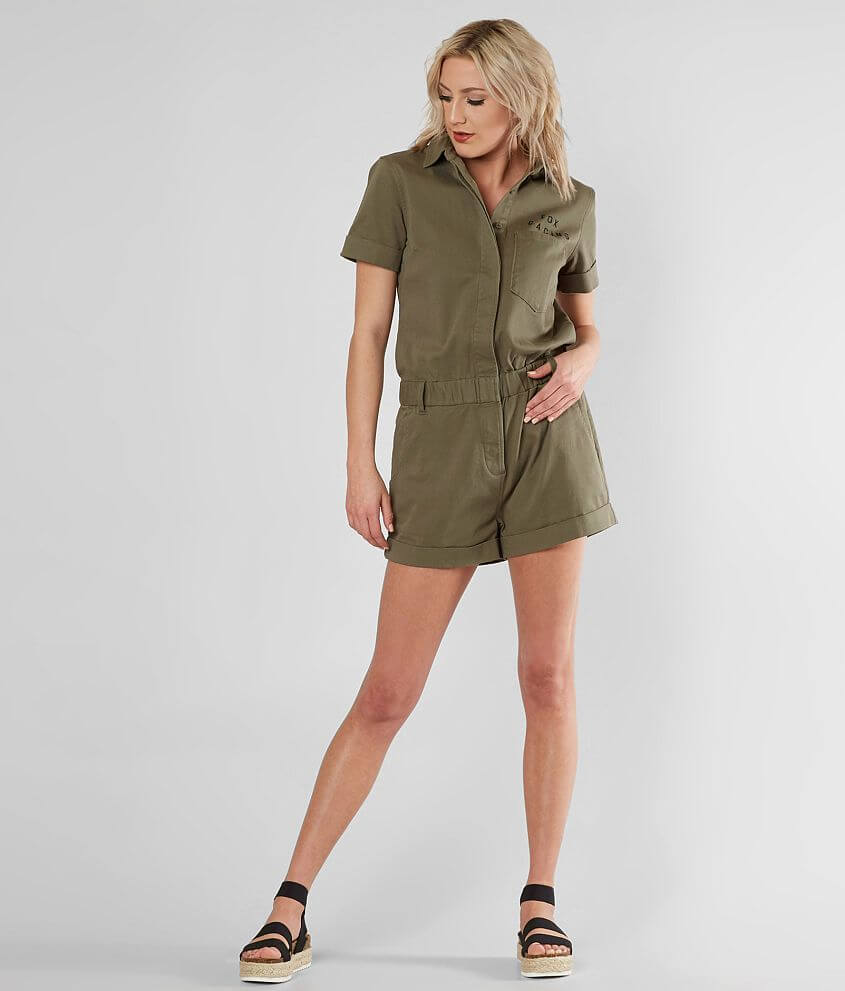 a5973d39b60f Fox Wrenching Romper - Women s Rompers Jumpsuits in Fatigue Green ...