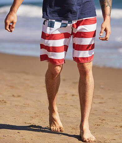 Fox Patriot Checker Stretch Boardshort