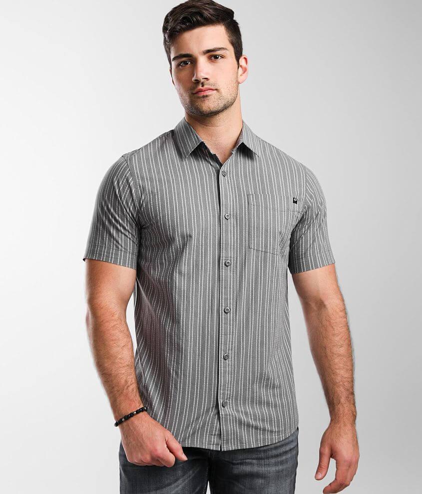 Fox Branam Striped Stretch Shirt front view