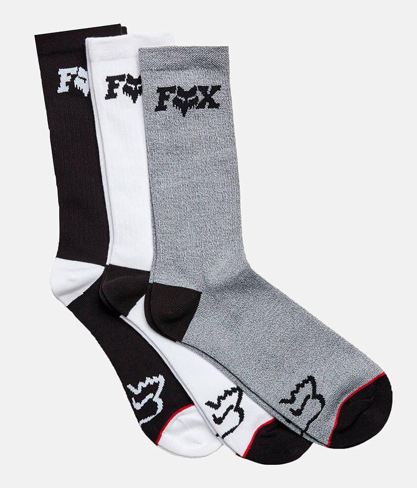 Logo printed crew socks S/M fits shoe sizes 9-11 L/XL fits shoe sizes 11-13