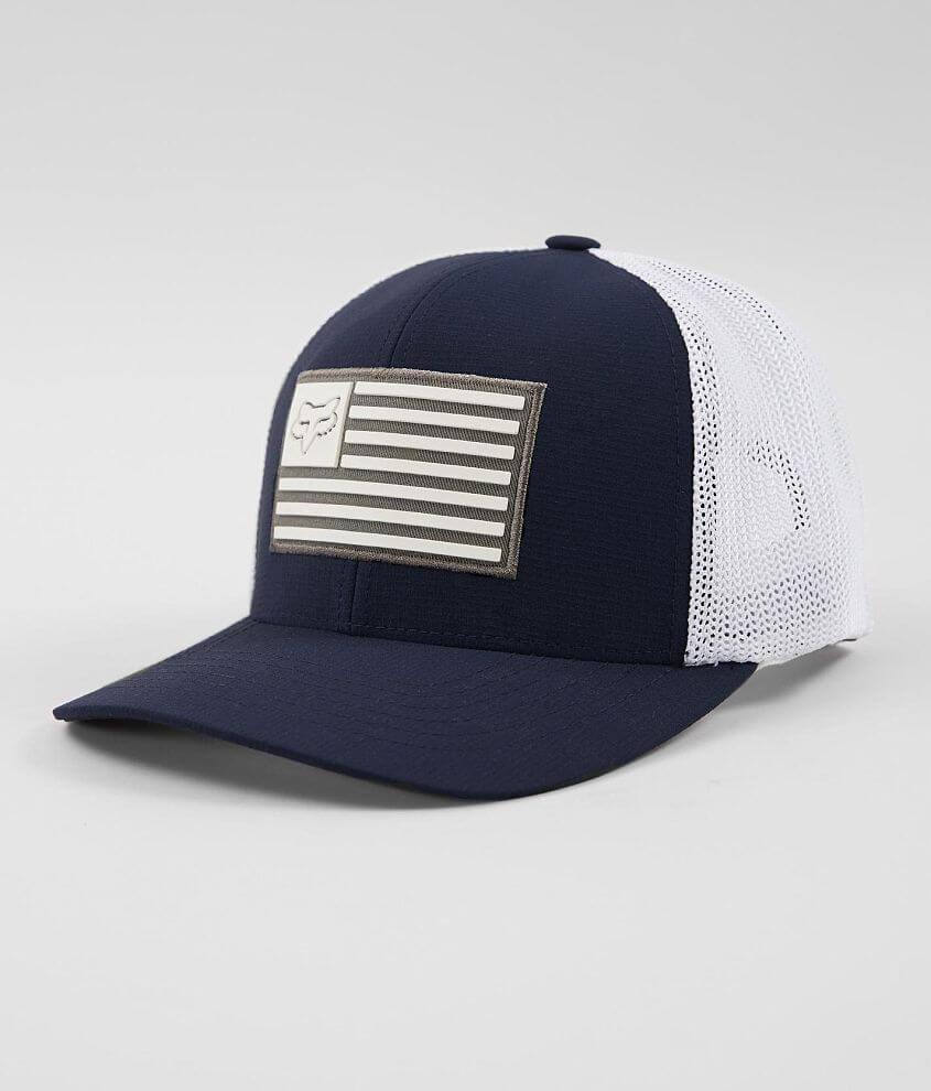 d791384a1bd Fox Downshift 110 Flexfit Tech Trucker Hat - Men s Hats in Navy