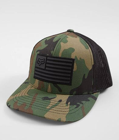 reputable site 12b2c 45840 Fox Downshift Camo 110 Flexfit Tech Trucker Hat