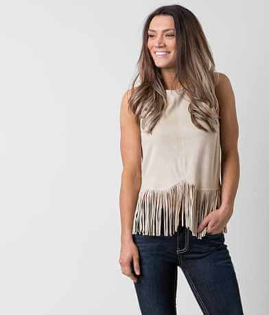 willow & root Fringe Tank Top